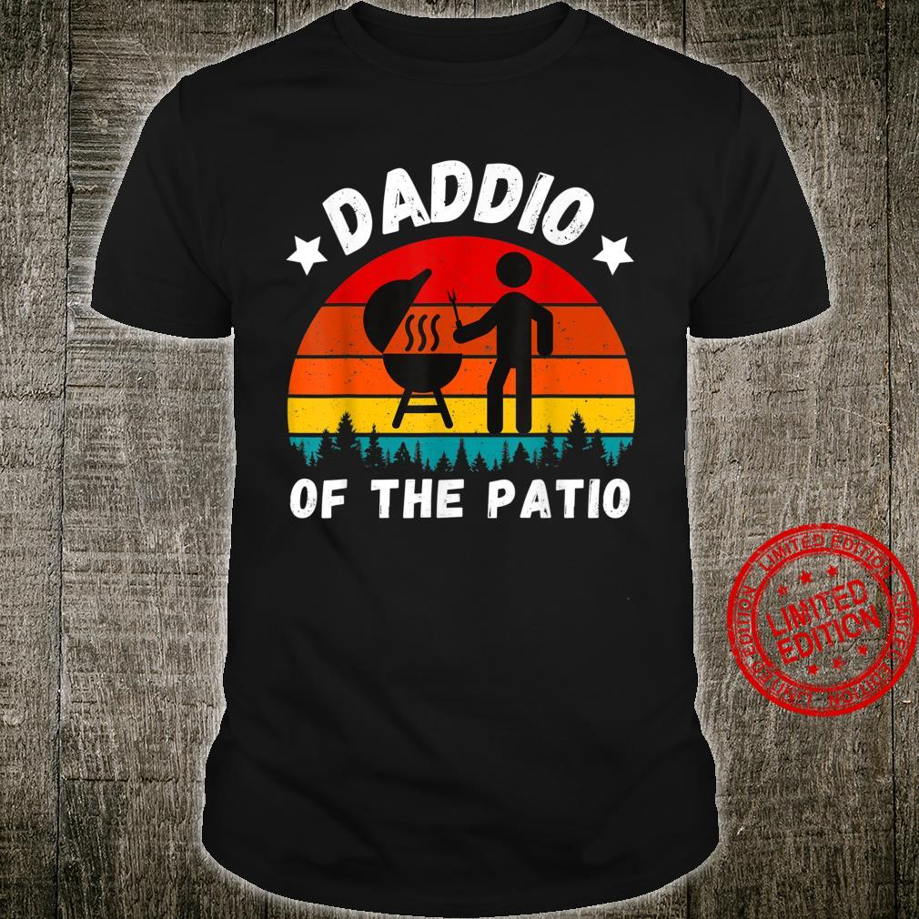 Dad Jokes Daddio Of The Patio Fathers Day Husband BBQ Shirt