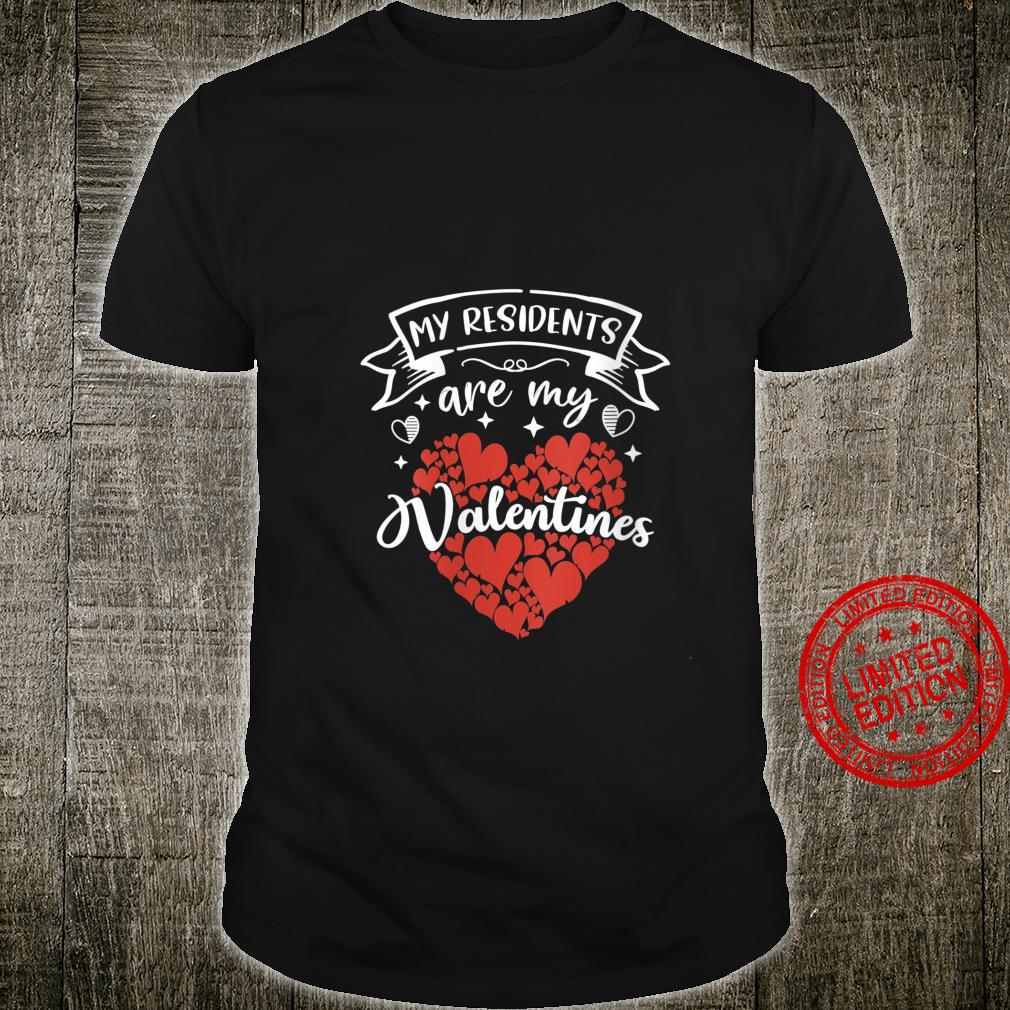 Womens Nurse Doctor Valentine My Residents Are My Valentines Day Shirt