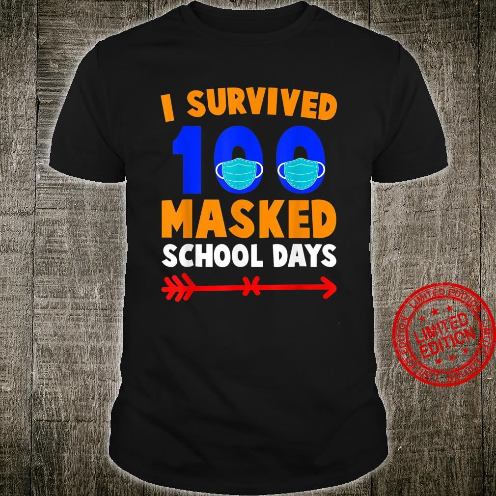 100 Day Of School I Survived 100 Days Of Masked School Shirt
